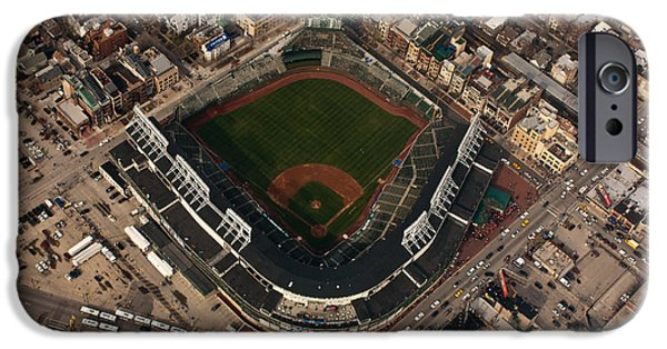 Wrigley Field iPhone Cases - Wrigley Field from the Air iPhone Case by Anthony Doudt