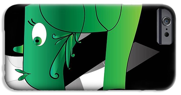 Abstract Digital Drawings iPhone Cases - Yoga iPhone Case by Iris Gelbart