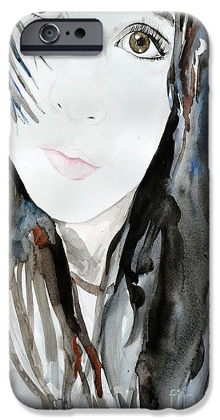 Ismeta iPhone Cases - Young Girl iPhone Case by Ismeta Gruenwald