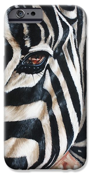 Zebra iPhone Case by Ilse Kleyn