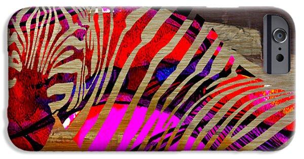 Zebra iPhone Cases - Zebra iPhone Case by Marvin Blaine