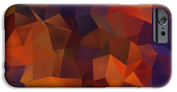 Graphic Design iPhone Cases - Abstract Background Of Multicolored Triangles iPhone Case by Victor Gladkiy