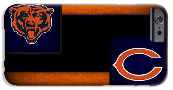 Santa iPhone Cases - Chicago Bears iPhone Case by Joe Hamilton