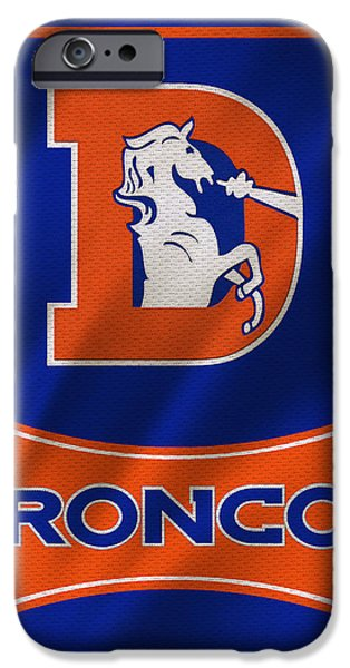 Uniform iPhone Cases - Denver Broncos Uniform iPhone Case by Joe Hamilton