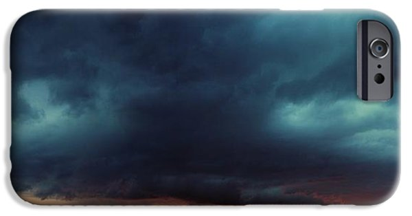 Nebraska iPhone Cases - First Storm Cells of 2014 iPhone Case by Dale Kaminski