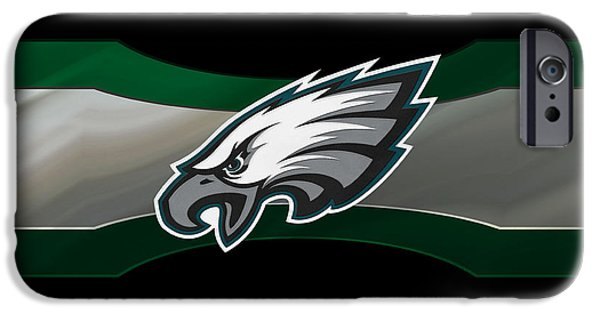 Recently Sold -  - Santa iPhone Cases - Philadelphia Eagles iPhone Case by Joe Hamilton