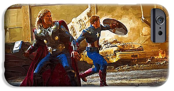Fury iPhone Cases - The Avengers 2012 Film iPhone Case by Victor Gladkiy