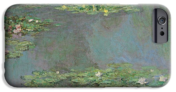 Petals iPhone Cases - Water Lilies iPhone Case by Claude Monet