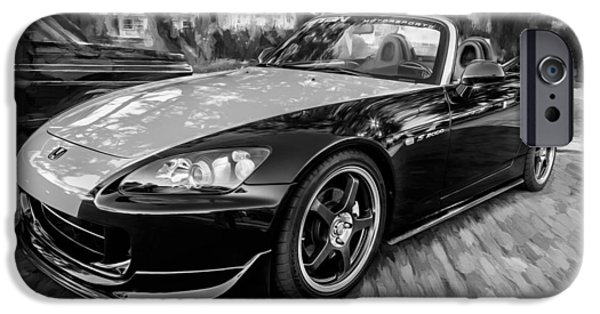 Recently Sold -  - Power iPhone Cases - 2004 Honda S2000 Roadster Painted BW  iPhone Case by Rich Franco
