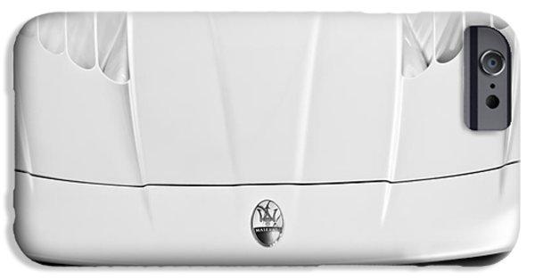 2005 iPhone Cases - 2005 Maserati MC12 Hood  Emblem 2 iPhone Case by Jill Reger
