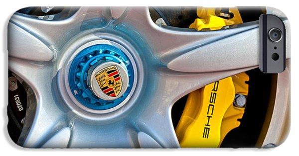 2005 iPhone Cases - 2005 Porsche Carrera GT Wheel Emblem -3135c iPhone Case by Jill Reger