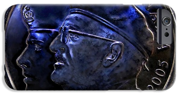 Wwi iPhone Cases - 2005 The Year Of The Veteran 25 Cent Coin iPhone Case by Danielle  Parent