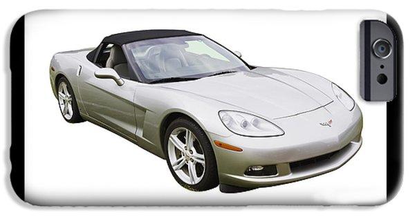 2007 iPhone Cases - 2007 Chevrolet Corvette C6 Convertible iPhone Case by Keith Webber Jr