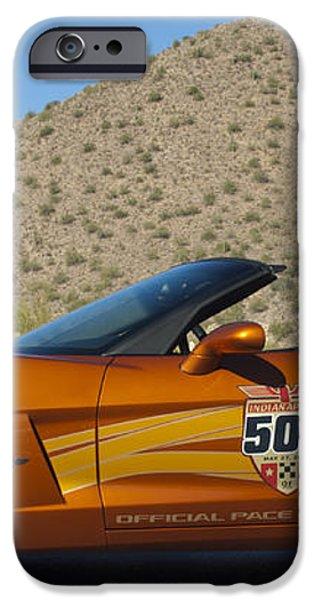 2007 Chevrolet Corvette Indy Pace Car iPhone Case by Jill Reger