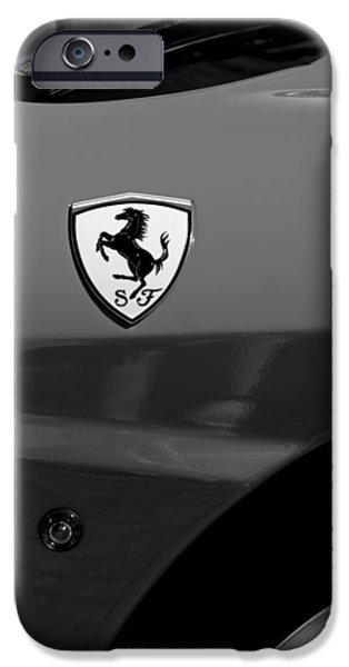 2007 iPhone Cases - 2007 Ferrari F430 Spider F1 Emblem iPhone Case by Jill Reger