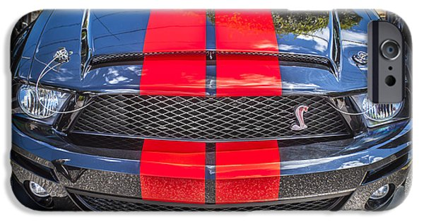 2007 iPhone Cases - 2007 Ford Shelby GT 500 Mustang iPhone Case by Rich Franco