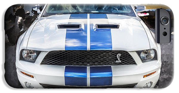 2007 iPhone Cases - 2007 Ford Shelby Mustang GT500 iPhone Case by Rich Franco
