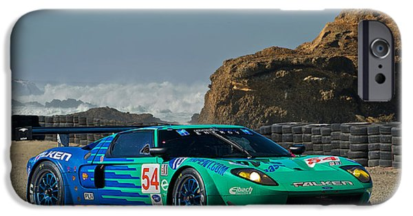 Circuit iPhone Cases - 2008 Ford GT40 II iPhone Case by Dave Koontz