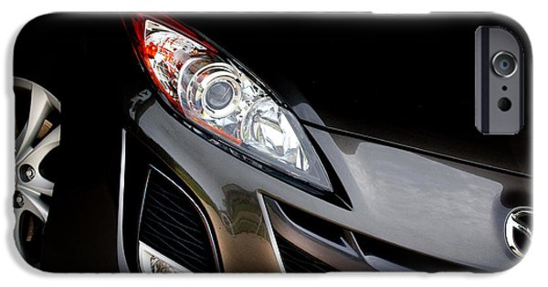 Antiques iPhone Cases - 2010 Mazda3 iSport iPhone Case by Denny Beck