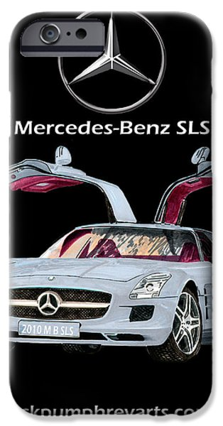 The Houses Mixed Media iPhone Cases - 2010 Mercedes Benz S L S    A M G iPhone Case by Jack Pumphrey