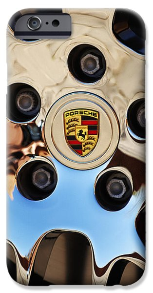 Cars iPhone Cases - 2010 Porsche Panamera Turbo Wheel iPhone Case by Jill Reger