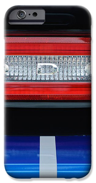 2011 Dodge Challenger RT Hemi Taillight Emblem iPhone Case by Jill Reger