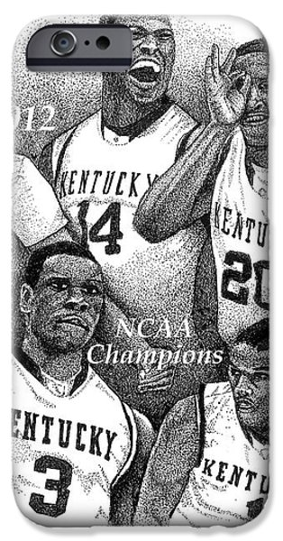 2012 NCAA Champion Wildcats iPhone Case by Tanya Crum