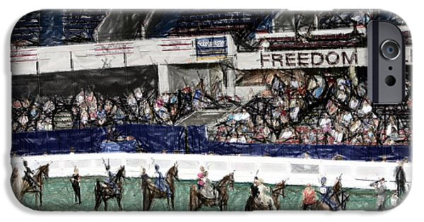 Freedom Tapestries - Textiles iPhone Cases - 2013-a World Championship Horse Show - Louisville KY iPhone Case by Thia Stover