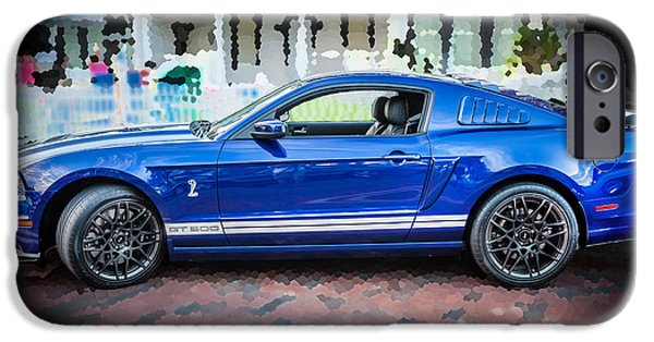 Carroll Shelby iPhone Cases - 2013 Ford Mustang Shelby GT 500  iPhone Case by Rich Franco