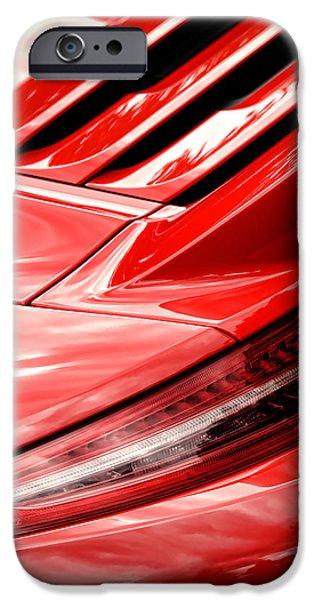 Reverse Art iPhone Cases - 2013 Porsche Carrera S iPhone Case by Gordon Dean II