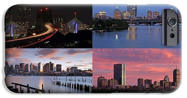 Charles River iPhone Cases - 2014 Best of Boston Skyline Photography iPhone Case by Juergen Roth