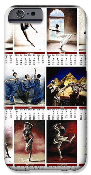 July Digital Art iPhone Cases - 2014 Fine Art Calendar iPhone Case by Richard Young