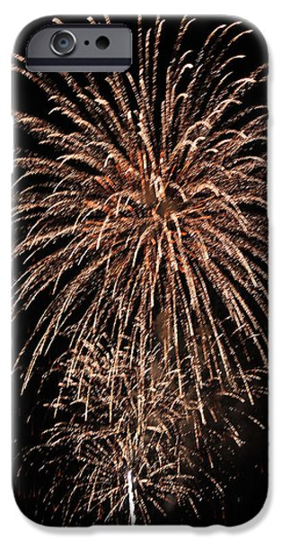 Fourth Of July iPhone Cases - Fireworks 2014 IV iPhone Case by Suzanne Gaff