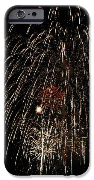Fourth Of July iPhone Cases - Fireworks 2014 V iPhone Case by Suzanne Gaff