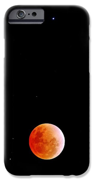 Constellations iPhone Cases - 2014 Lunar Eclipse iPhone Case by David Broome