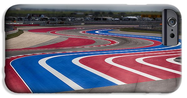 Circuit iPhone Cases - 2014 MotoGP Red Bull Grand Prix of the Americas Track iPhone Case by Douglas Barnard