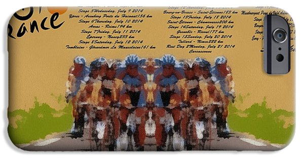 Healthy Mixed Media iPhone Cases - 2014 Tour De France iPhone Case by Dan Sproul