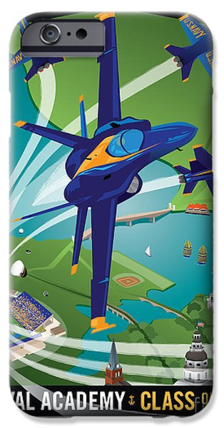 Blue Angel iPhone Cases - 2014 USNA Commissioning Week iPhone Case by Joe Barsin