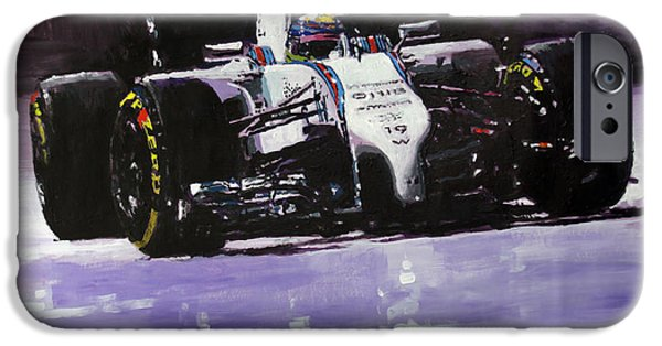 Papers iPhone Cases - 2014 Williams F1 Team FW 36 Felipe Massa  iPhone Case by Yuriy Shevchuk
