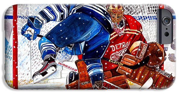 Hockey Drawings iPhone Cases - 2014 Winter Classic iPhone Case by Dave Olsen