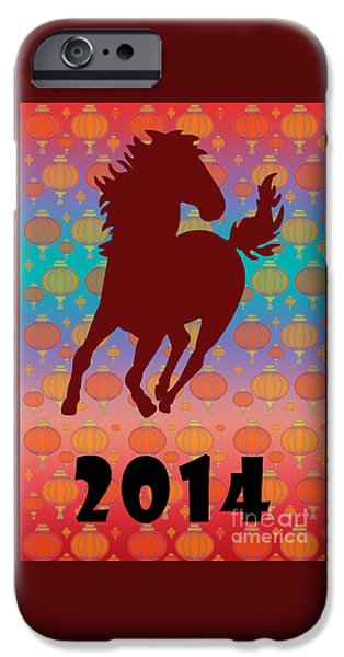 Year Of The Horse iPhone Cases - 2014 - Year of the Horse iPhone Case by Gaspar Avila