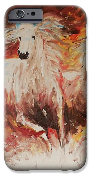 Year Of The Horse iPhone Cases - 2014 Year of the Horse iPhone Case by Stacey Pollio
