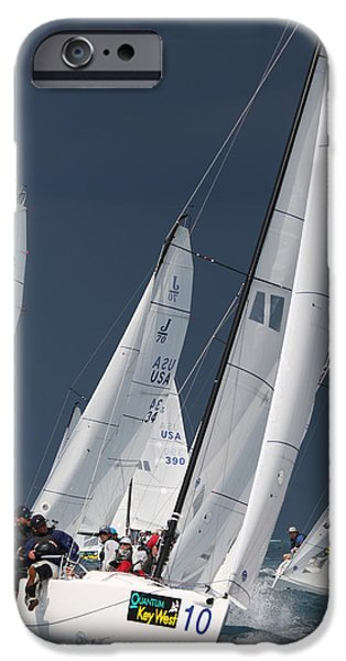 Sailboat Ocean iPhone Cases - Key West Race Week iPhone Case by Steven Lapkin
