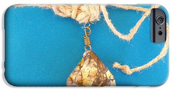 Yellow Jewelry iPhone Cases - Aphrodite Urania Necklace iPhone Case by Augusta Stylianou