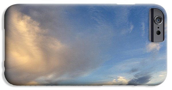 Cloudscape Photographs iPhone Cases - Clouds iPhone Case by Les Cunliffe