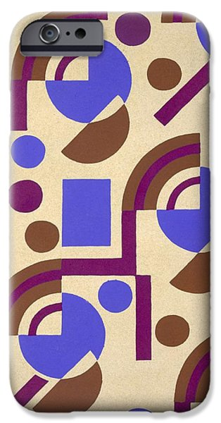 Abstract Forms Drawings iPhone Cases - Design from Nouvelles Compositions Decoratives iPhone Case by Serge Gladky
