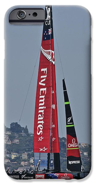 Alcatraz iPhone Cases - Emirates Team New Zealand iPhone Case by Steven Lapkin