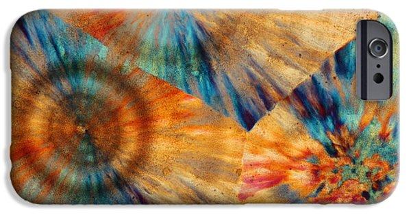 Nature Abstract iPhone Cases - Ocean Jasper iPhone Case by Bernardo Cesare