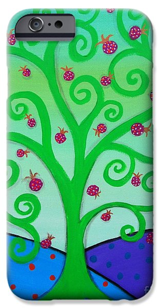 Bestfriend iPhone Cases - Tree Of Life iPhone Case by Pristine Cartera Turkus