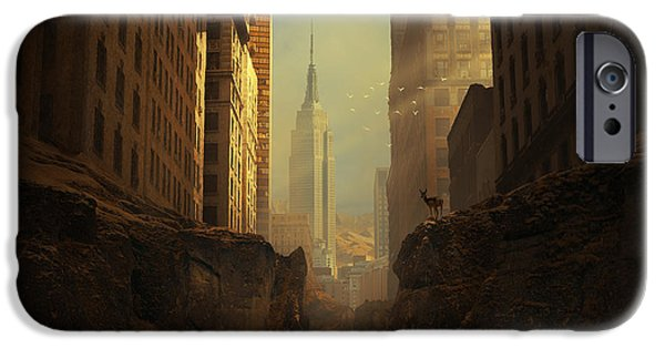 New York City Digital Art iPhone Cases - 2146 iPhone Case by Michal Karcz